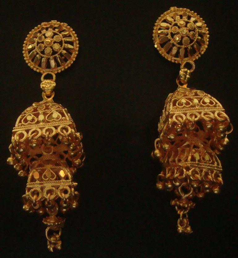 Traditional Indian Gold Plated Earring Jewellery Maker Fashionable