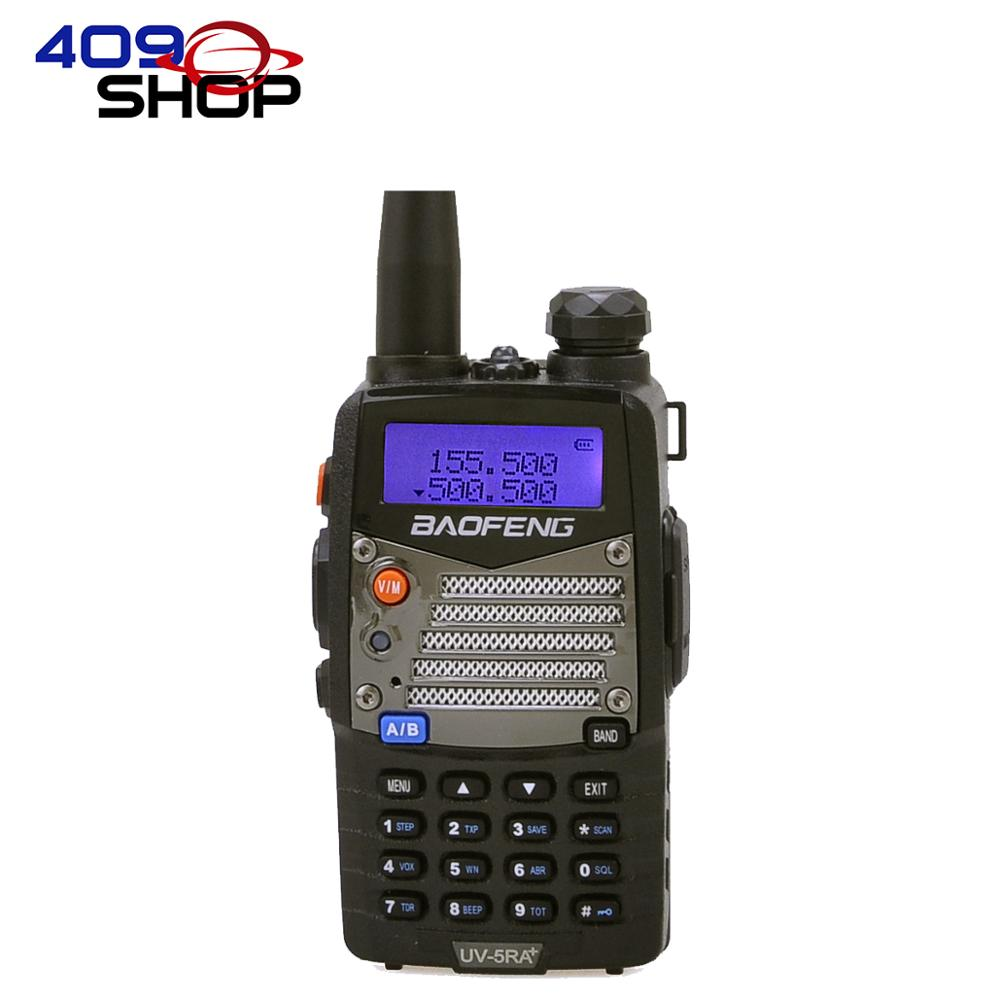 409shop BAOFENG Talkie Walkie rádio UV5RA PLUS 136-174 / 400-520MHZ Discussão Intervalo 8 - 10 km