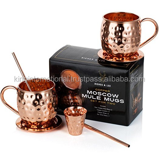 Standard Moscow Mule Drink Vodka Drink Copper Mug/Cup Gift Set