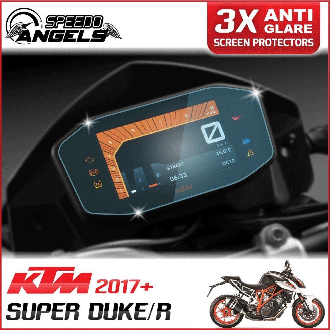 2 x Ultra Clear Speedo Angels SAKT6NG2 Nano Glass Screen Protector for KTM 1290 Super Duke R 2017+