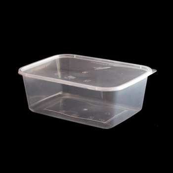 Microwave 1500ml Plastic Rectangular Food Storage Container