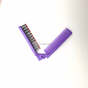 disposable hotel comb/Folding handy plastic combs/ pocket hair brush