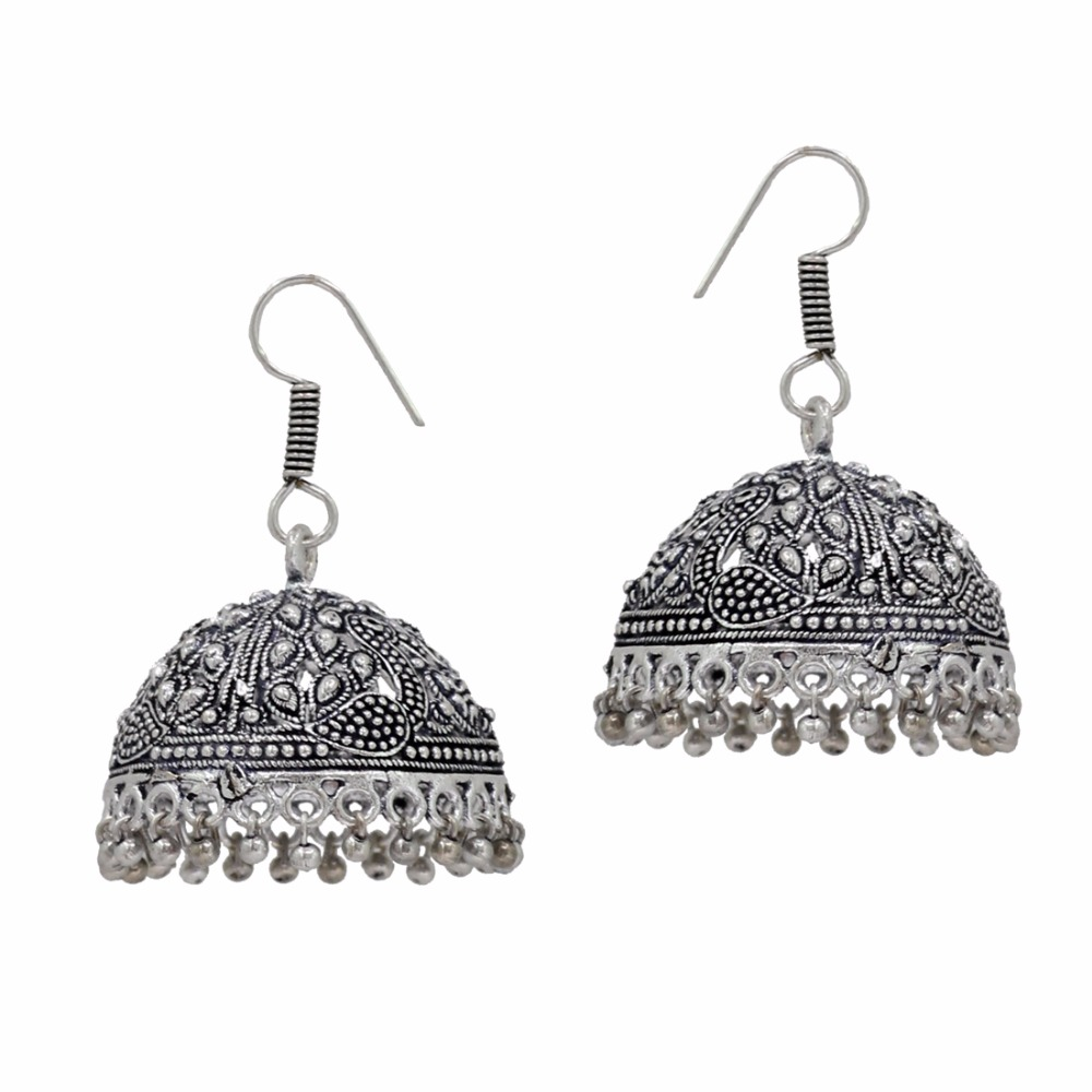 old silver called rajasthani antique pupat indian jewellery earrings of
