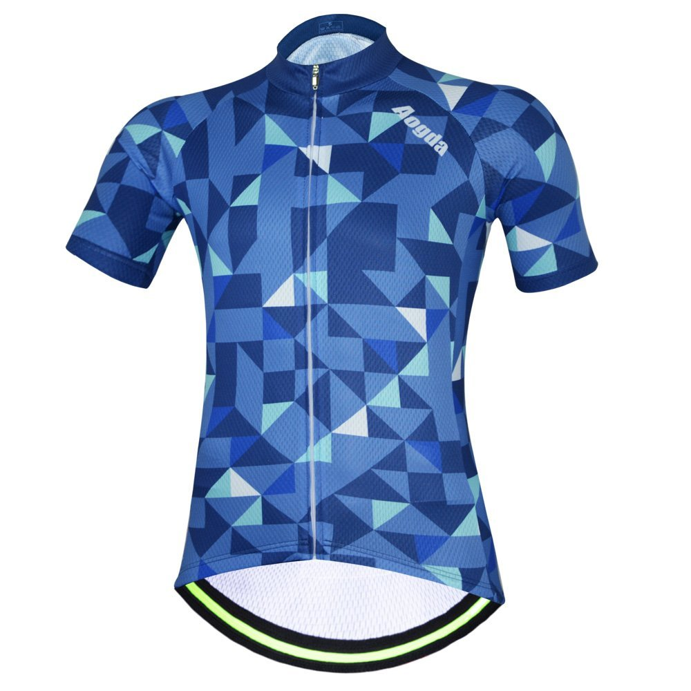 3c97f6ac8b1 Get Quotations · Aogde Men s Cycling Jersey 3D Silicon Padded Bicycle  Clothing Wear Suit Breathable Short Sleeve Cycle Skinsuits