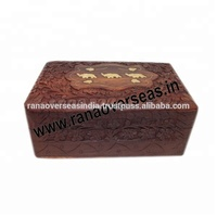 Wooden Hand Carving Jewellery Box Sewing Box Crafts.