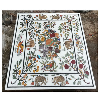 Marble Inlay Dining Table Top Italian Tops Cultured