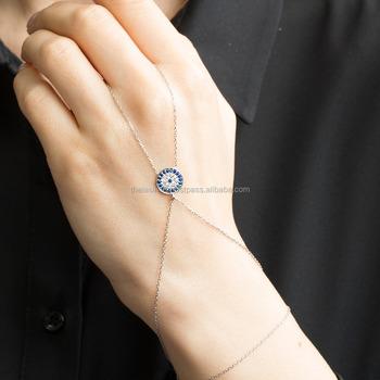 Silver Shire Evil Eye Slave Bracelet Whole Turkish 925 Sterling Good Luck Ring