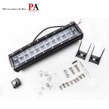 Waterproof LED light auto part 72w 4x4 OFFROAD Strobe led light bar Dual rows led light 13.5 inch