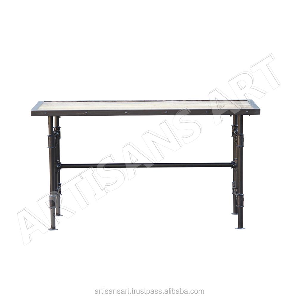 Vintage Mid Century Urban Rustic Dining Table Folding Cast Iron Furniture Vinatage Antique