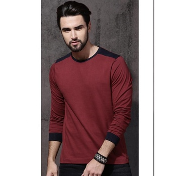 Full sleeve men fashion design t shirt/Long Sleeve T shirts For Men