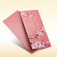 RP-062 - Luxury Custom Made Trendy Chinese New Year Traditional Red Packet Lai See Hong Bao Ang Pow Red Pocket Envelope Custom