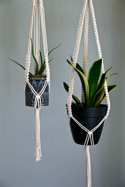 Boho Macrame Plant Hanger Hanging Planter Pot Plant Hanger Rope ...