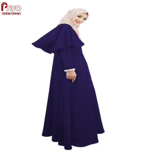 Cape-style Dubai Abaya Turkish Women Clothing Muslim Dress Islamic Cocktail ladies Long Sleeve Vintage Maxi Dresses