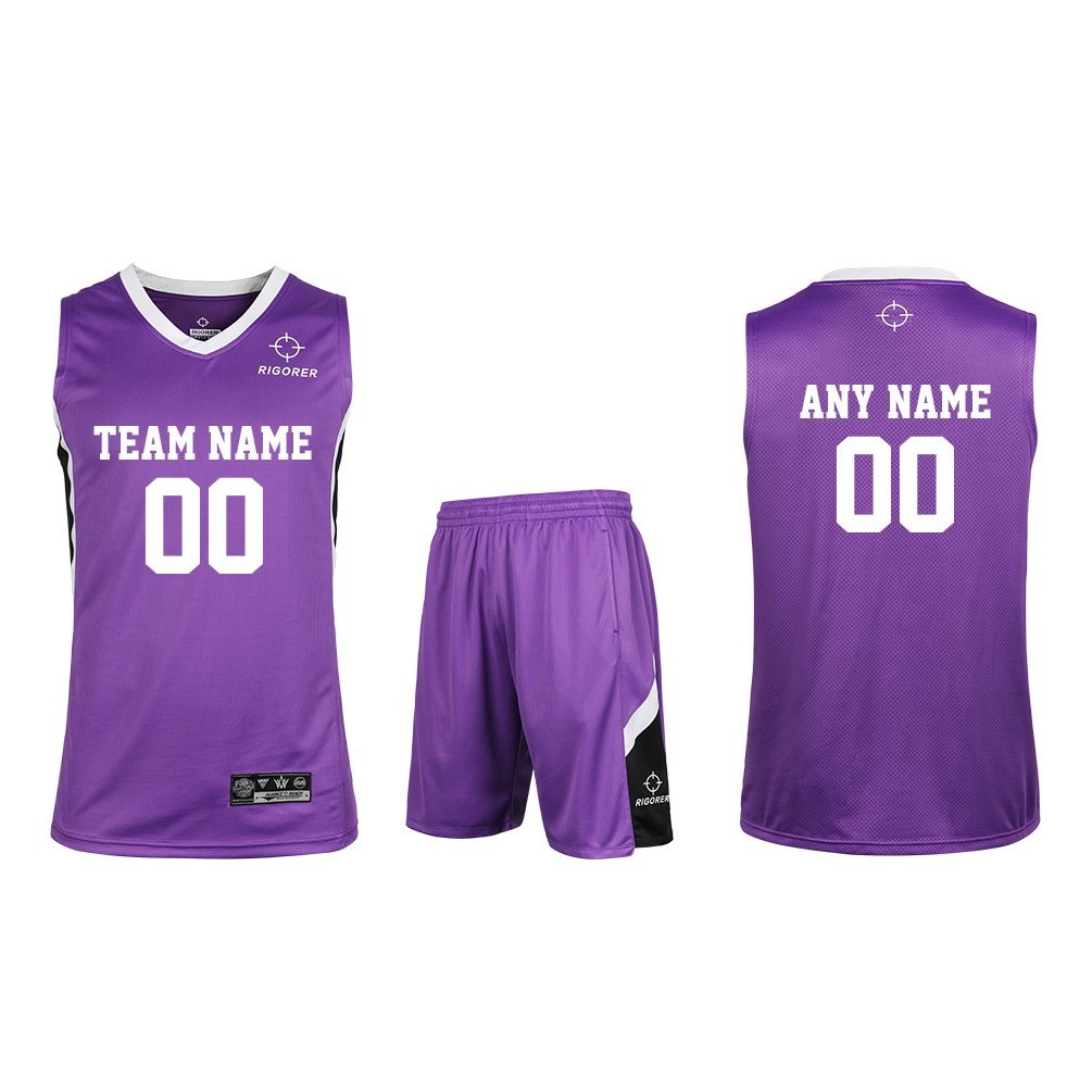 264e3cbcbd4 Get Quotations · Rigorer Custom Basketball Uniform Sports Jersey and Shorts  Training Tank Top Set Polyester Jersey Shirts