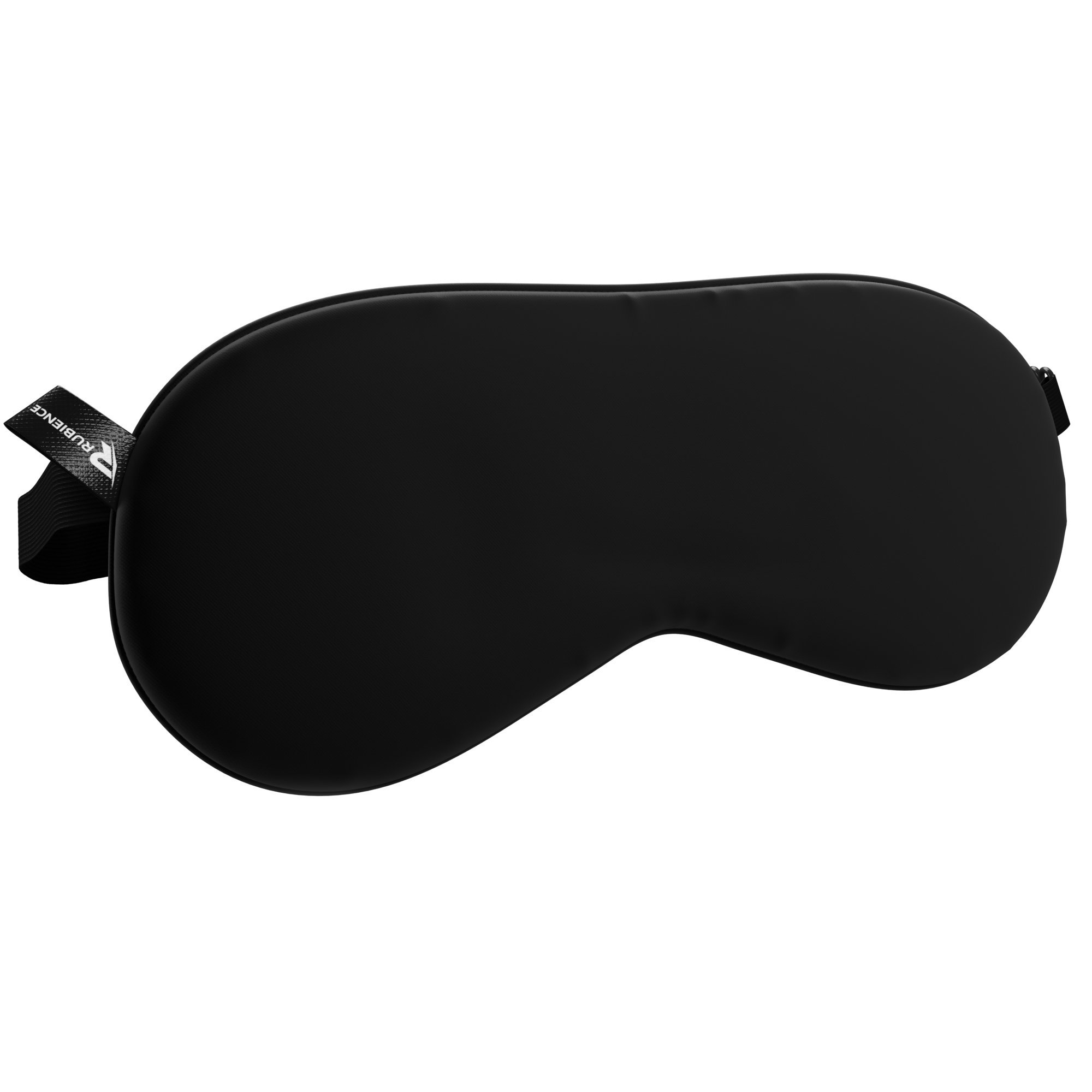 Rubience Sleep Mask, Silk Sleeping Eye Mask, Comfortable Sleep Aid Blindfold for Women and Men, Black