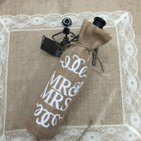 Wholesale personalize promotional small packing bag jute bottle bag