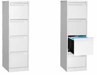 Office Furniture 4 Drawers Metal Vertical Filling Cabinet