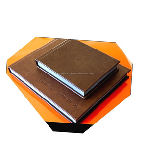 Leather wedding album case / photo album leather cover maker / best selling photo book album cover