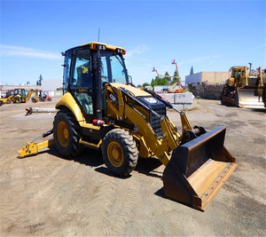 95% new condition cheap price used caterpillar 420f backhoe loader, cat 420 bakchoe loader heavy construction machinery for sale