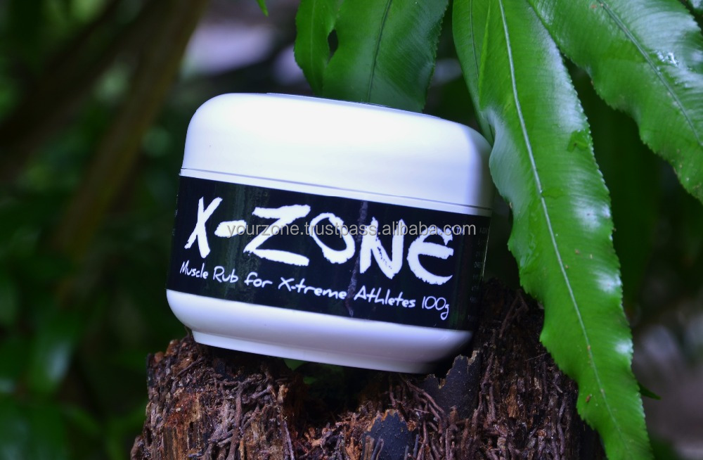 HERBAL PAIN REMOVER FOR ATHLETES - X-ZONE MUSCLE RUB 100 ML