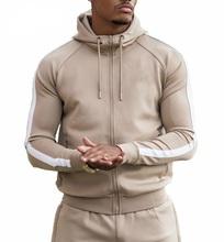 Custom logo side strips men tracksuit men's sweatsuit jogging fleece suit Joggers Pants Sweat Track Suit / Street wear