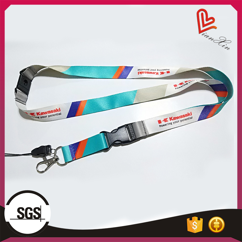 Promotional sublimation printed polyester lanyard china wholesale