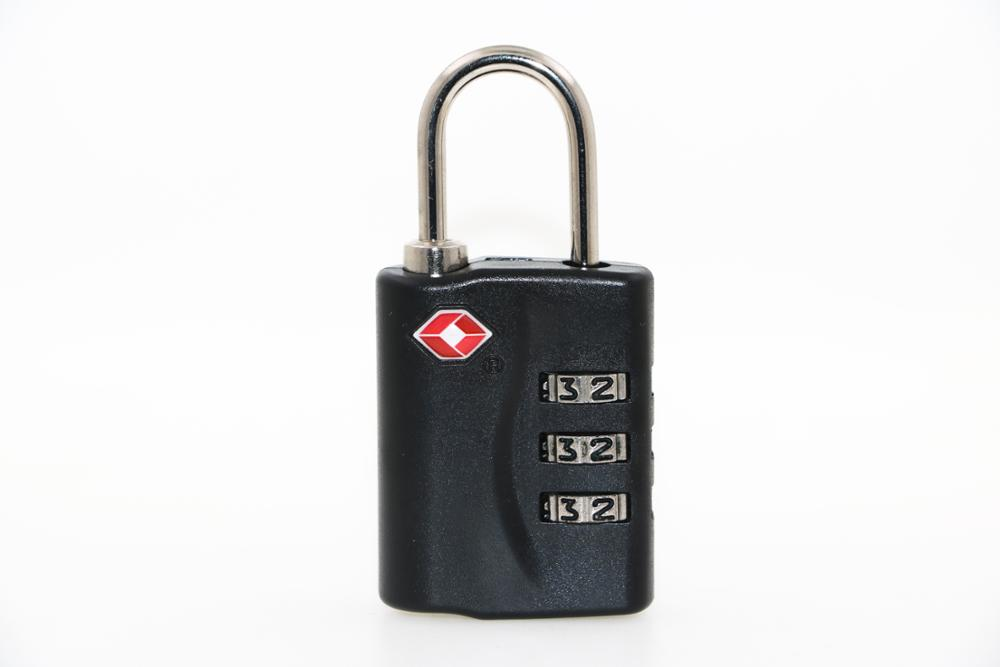 Factory Red Open Alert Indicator TSA padlock luggage travel lock