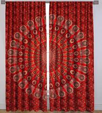 Hippie Pauw Mandala Tapestry <span class=keywords><strong>Gordijnen</strong></span> Indian Drape Balkon Room Decor Gordijn 2 Panel Set