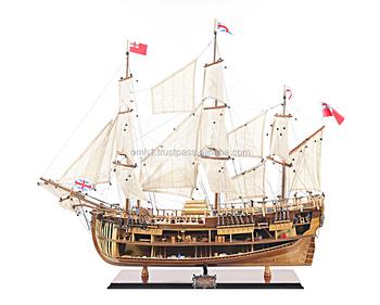 Hms Endeavour Open Hull (l80) - Vietnam Handmade Wooden Model Ship - Buy Ship Model,Wooden Model ...