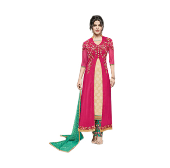 Magenta Jacquard Georgette Anarkali Suit/ Indian Ethnic Wear For Girls /  Wholesale Indian Clothing - Buy Online Shopping For Clothing,Latest Salwar