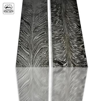 Damascus Steel Feather Pattern Billets
