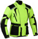 Mens Hi-Vis MOTORBIKE Motorcycle Armoured waterproof Cordura Textile Jacket Collection All Weather CE Approved