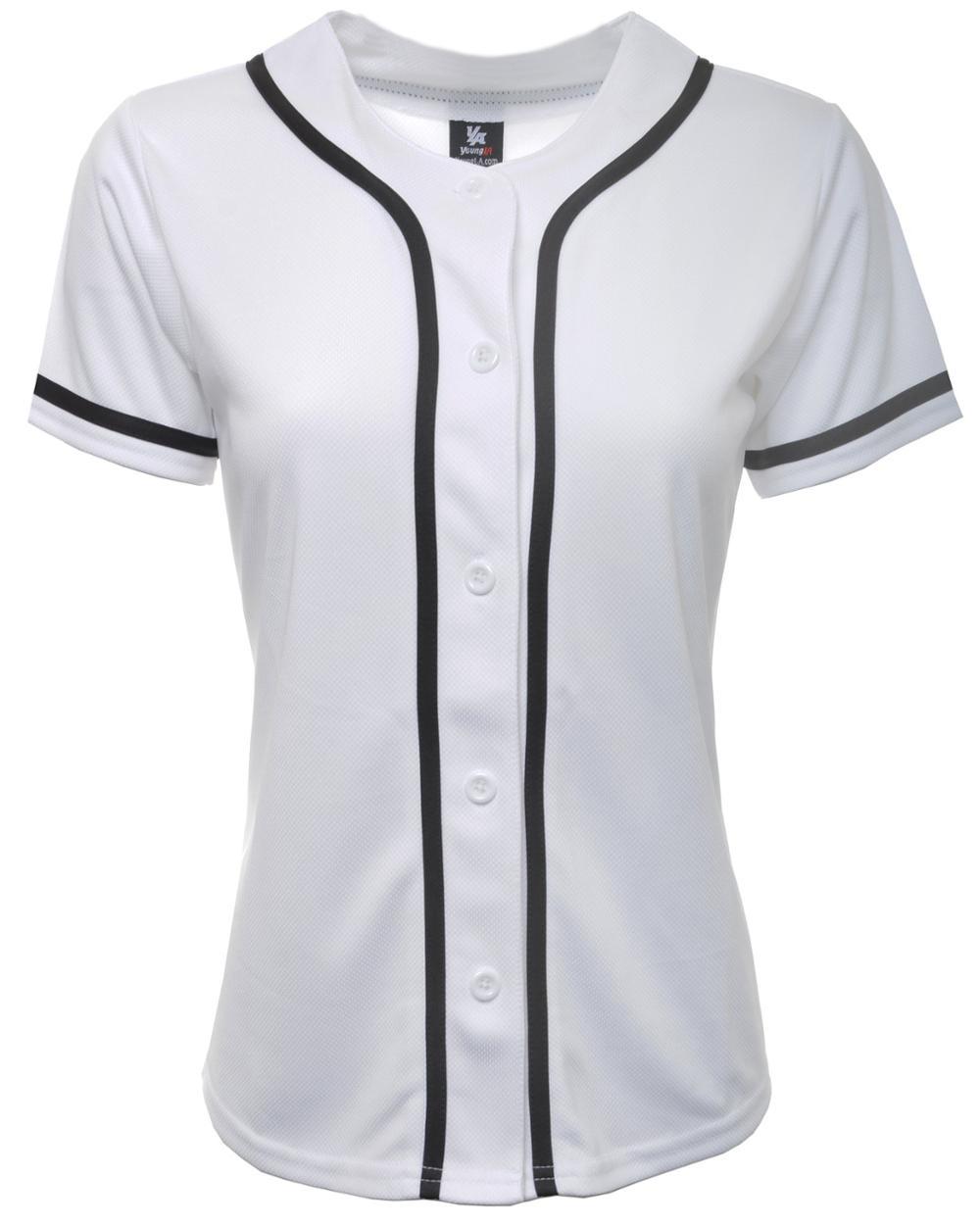 the latest 829f5 44578 2018 Plain White Women Baseball Jersey/ladies Dry Baseball Sports Jersey  Shirts/blank Baseball Shirts - Buy 2018 Plain White Women Baseball ...
