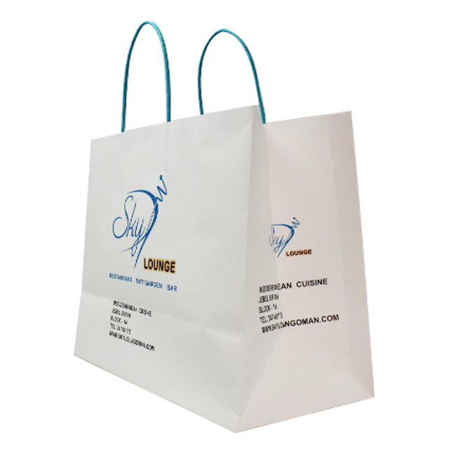 Wholesale Fancy multicolored Kraft Paper Clothing Packaging Bag With Logo Printing