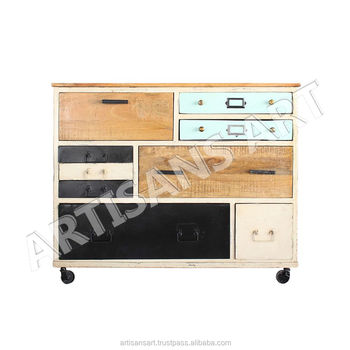 Contemporary Mirrored Chest Of Drawers Antique Silver Gl Sideboard Vine Style Furniture Large Storage Unit Table