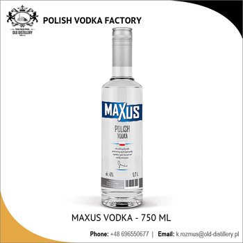 Maxus 750 ml Alc 40% Polish Vodka