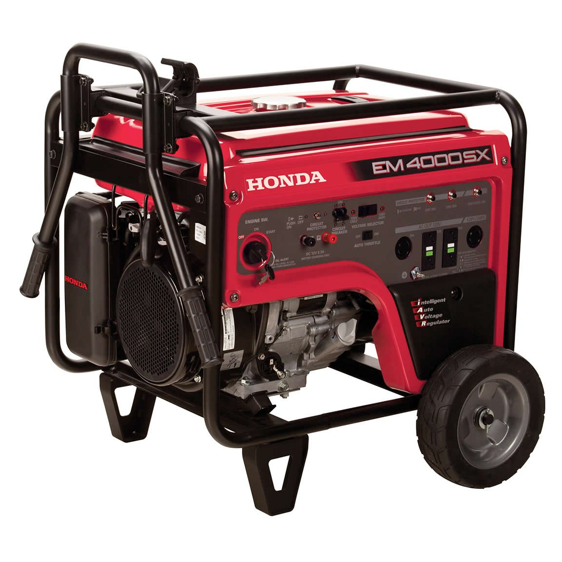 Get Quotations · Honda Power Equipment EM4000SXAT 4,000W Portable Generator  with iAVR Technology CARB, Steel