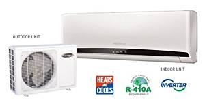 Soleus 17,500 BTU Single Zone Wall-Mount Ductless Mini Split System with 20,000 BTU Heat Pump, 20 SEER, 12.7 EER, 230V, R-410A and Remote Control, KFCHP5-18 (15ft. Lineset included)