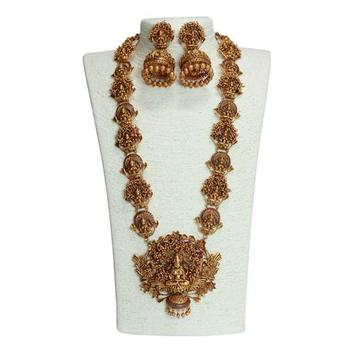 Indian Traditional Jewellery Antique Matt Finish Copper Lakshmi