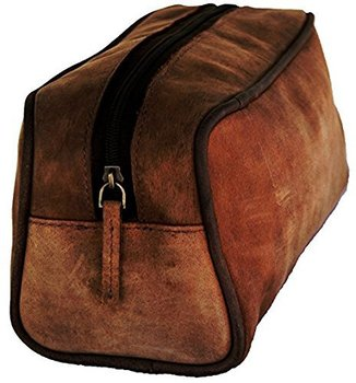 d21ee126fc3f Prastara Handmade Buffalo Genuine Leather Toiletry Bag Dopp Kit Shaving And  Grooming Kit For Travel -
