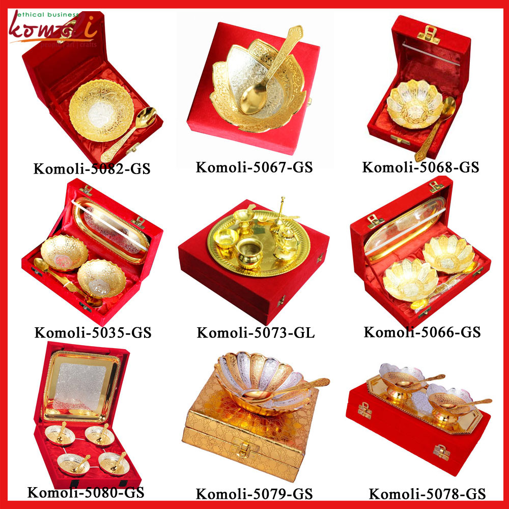 Golden Silver Plated Return Gifts Indian Wedding Gift Ideas Bowl Set Buy Return Gifts Indian Weddingindian Wedding Return Gift Ideasindian