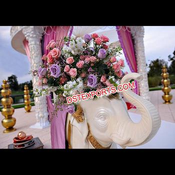 Indian Wedding Decor Fiber Elephant Statuewedding Welcome Fiber