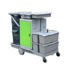 High Quality Plastic Hotel Housekeeping Cleaning Trolley Service Cart