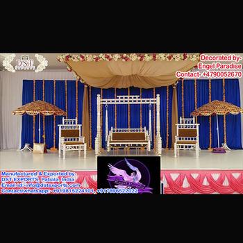 Superb Design Wedding Swing Set With Umbrella,Mehndi Stage Decoration With  Swing,Stage Sankheda Swing Set , Buy Swing Jhoola,Indian Wedding