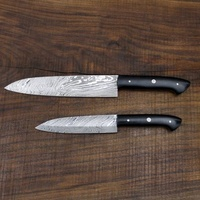 "Damascus Santoku Chef Knife Set of large and small knife 13"" and 10"" MH.48"