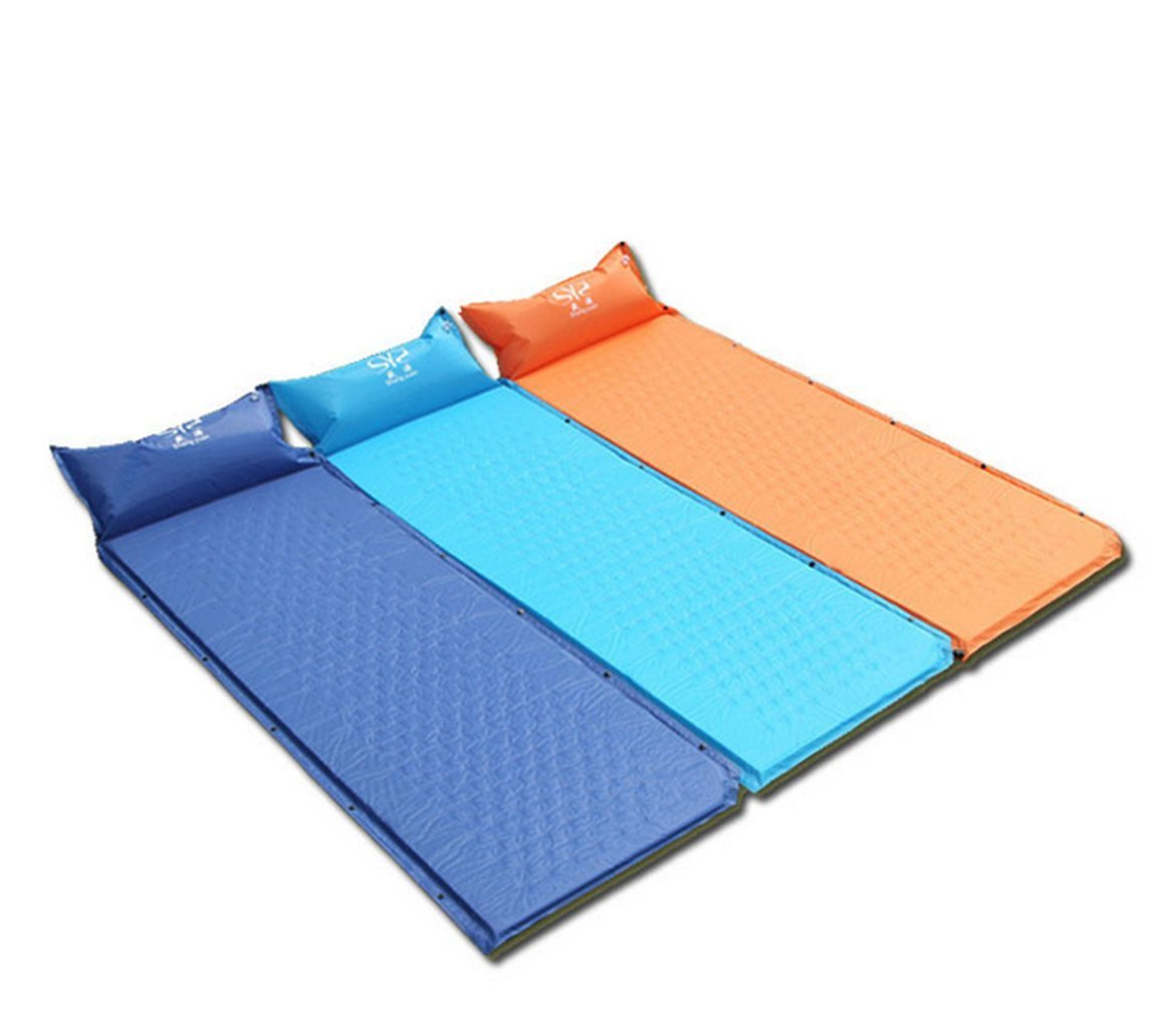 Unisex Outdoor Inflatable Mattress /Folding Pad/Automatic Inflatable Mat/Moisture-proof Sleeping mat/ Single/Double Sleeping Mat/Travel Sleeping Mat/Waterproof Air Cushion with Pillow