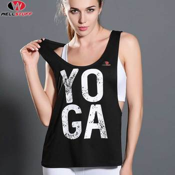 Wellstuff Yoga Tank Tops Design Sleeveless Shirt Women