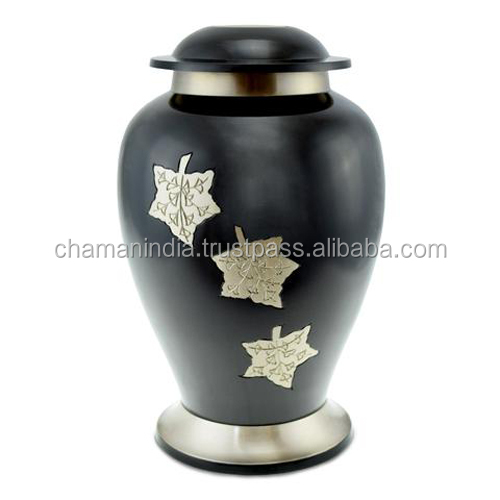 Black & Gold Messing Midnight Sierlijke Urn