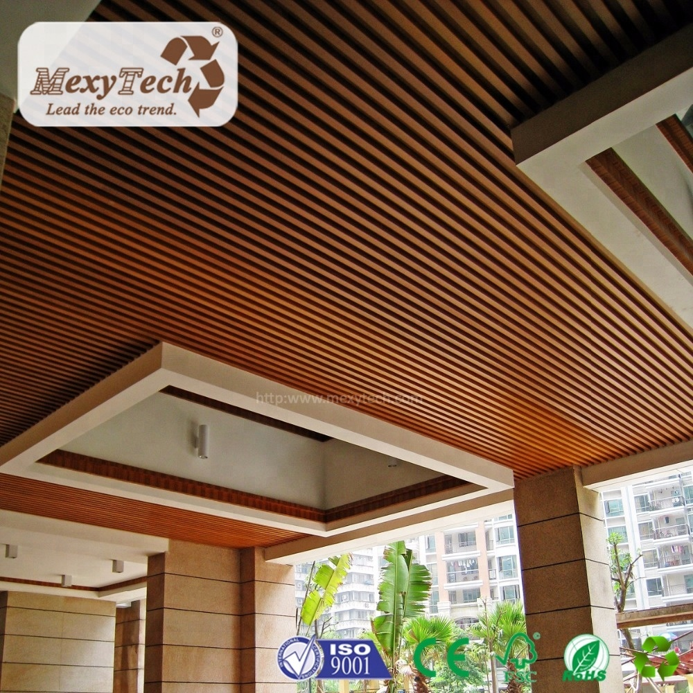 Engineered Indoor Wpc Wood Composite Pvc Ceiling Panels 40 45 Mm Buy Ceiling Ceiling Panels Pvc Ceiling Product On Alibaba Com