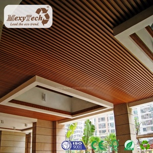 Engineered indoor WPC wood composite PVC ceiling panels 40*45 mm